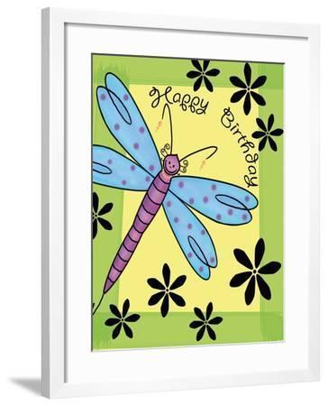 Purplefly-Maria Trad-Framed Giclee Print