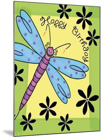 Purplefly-Maria Trad-Mounted Giclee Print