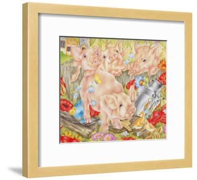 Piggy in the Middle-Karen Middleton-Framed Giclee Print
