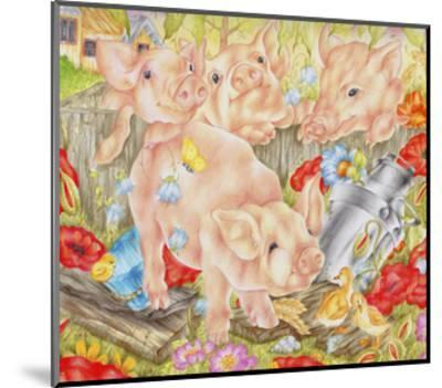 Piggy in the Middle-Karen Middleton-Mounted Giclee Print