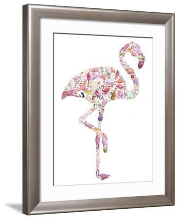 Flamingo-Louise Tate-Framed Giclee Print
