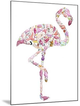 Flamingo-Louise Tate-Mounted Giclee Print