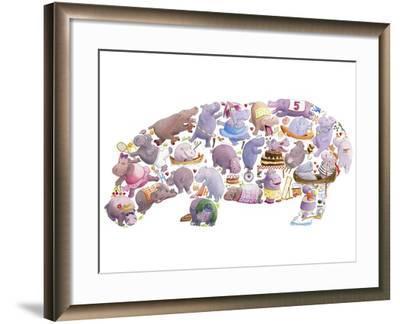 Hippo-Louise Tate-Framed Giclee Print