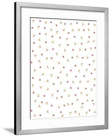 Red Tulips Background 2-Maria Trad-Framed Giclee Print