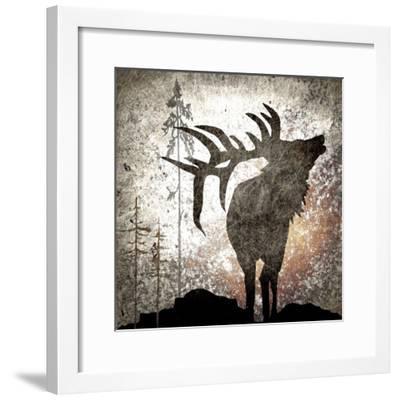 Calling Elk-LightBoxJournal-Framed Giclee Print