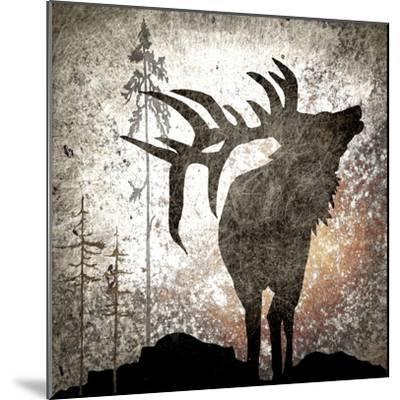 Calling Elk-LightBoxJournal-Mounted Giclee Print