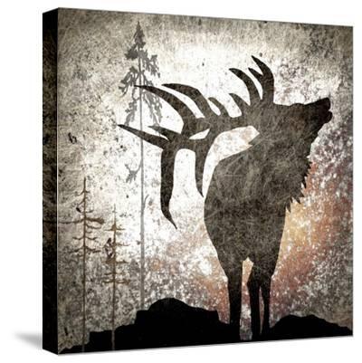 Calling Elk-LightBoxJournal-Stretched Canvas Print