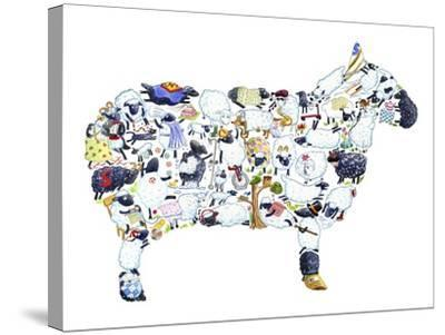 Sheep-Louise Tate-Stretched Canvas Print