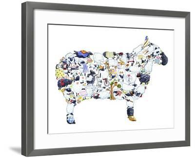 Sheep-Louise Tate-Framed Giclee Print