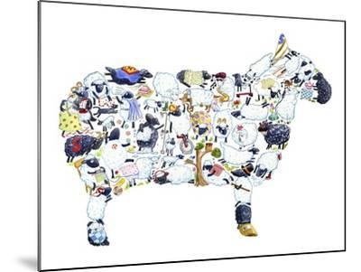 Sheep-Louise Tate-Mounted Giclee Print