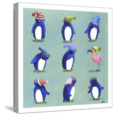 Penguins-Louise Tate-Stretched Canvas Print