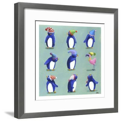 Penguins-Louise Tate-Framed Giclee Print