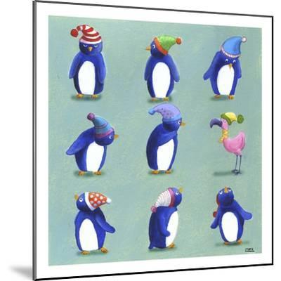 Penguins-Louise Tate-Mounted Giclee Print