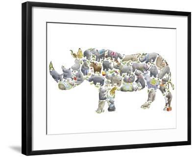 Rhino-Louise Tate-Framed Giclee Print