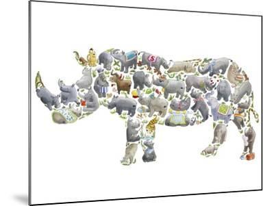 Rhino-Louise Tate-Mounted Giclee Print