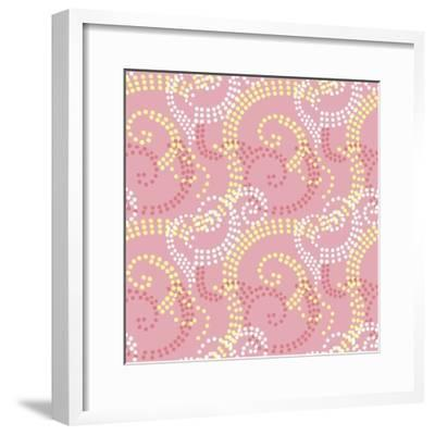 Pretty and Pink-Swirl dot coordinate-Julie Goonan-Framed Giclee Print