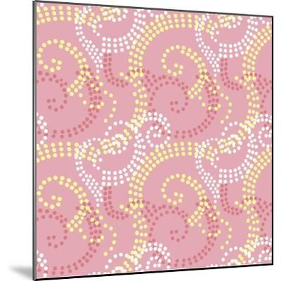 Pretty and Pink-Swirl dot coordinate-Julie Goonan-Mounted Giclee Print