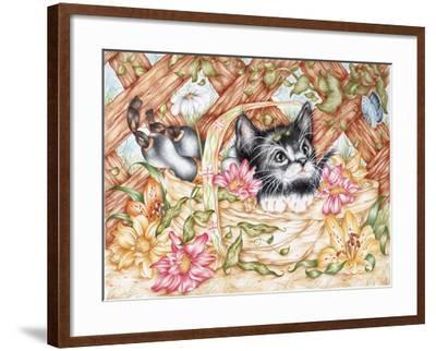Snug in a Trug-Karen Middleton-Framed Giclee Print