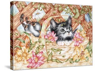 Snug in a Trug-Karen Middleton-Stretched Canvas Print