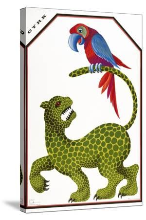 Cyrk - Leopard and Parrot-Marcus Jules-Stretched Canvas Print