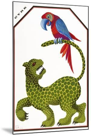 Cyrk - Leopard and Parrot-Marcus Jules-Mounted Giclee Print