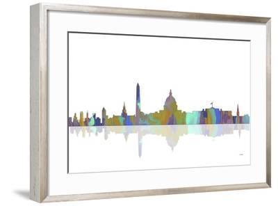 Washington DC Skyline 2-Marlene Watson-Framed Giclee Print