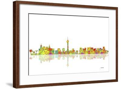 Las Vegas Nevada Skyline 1-Marlene Watson-Framed Giclee Print
