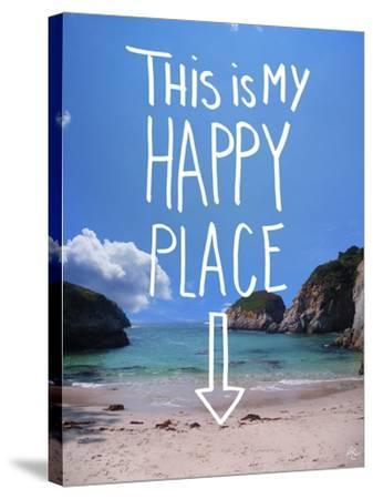 This Is My Happy Place-Kimberly Glover-Stretched Canvas Print