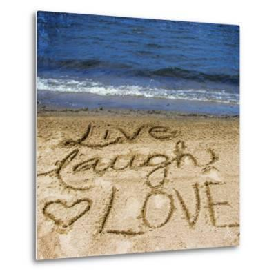 Live Laugh Love in the Sand-Kimberly Glover-Metal Print