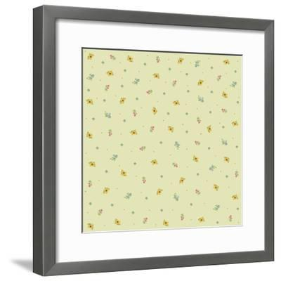 Sunflower Background-Maria Trad-Framed Giclee Print