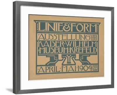 Linie and Form-Marcus Jules-Framed Giclee Print
