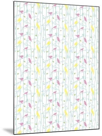 Birds on Branches-Josefina Baumann-Mounted Giclee Print