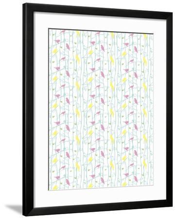 Birds on Branches-Josefina Baumann-Framed Giclee Print