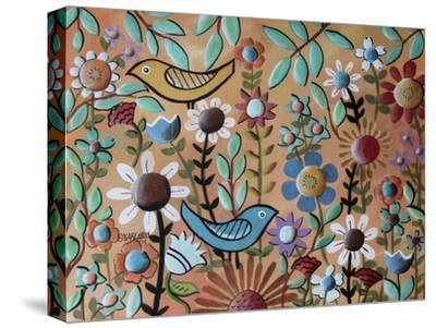 Birds and Flowers 1-Karla Gerard-Stretched Canvas Print