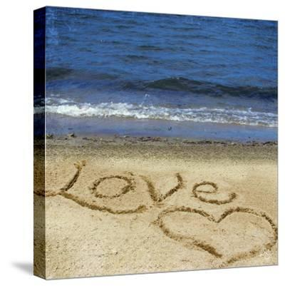 Love in the Sand-Kimberly Glover-Stretched Canvas Print