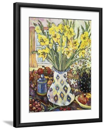 White Diamond Vase-Lorraine Platt-Framed Giclee Print