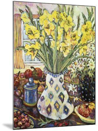White Diamond Vase-Lorraine Platt-Mounted Giclee Print