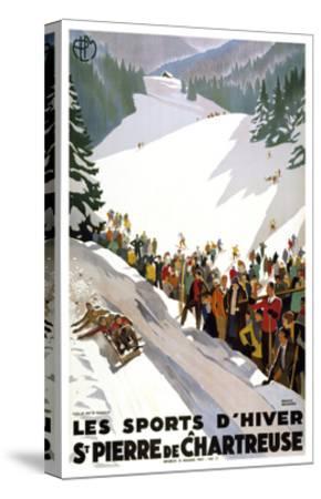 Les Sports D'Hiver-Marcus Jules-Stretched Canvas Print
