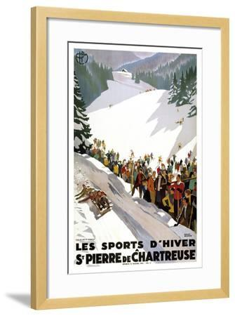 Les Sports D'Hiver-Marcus Jules-Framed Giclee Print