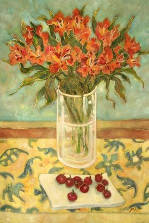 Orange Flowers-Lorraine Platt-Stretched Canvas Print