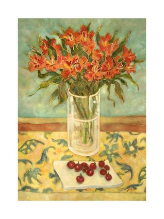 Orange Flowers-Lorraine Platt-Giclee Print