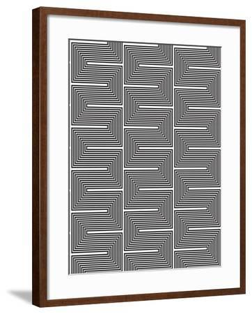 Optic Pattern-Josefina Baumann-Framed Giclee Print