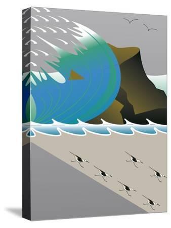 Wave-Marie Sansone-Stretched Canvas Print