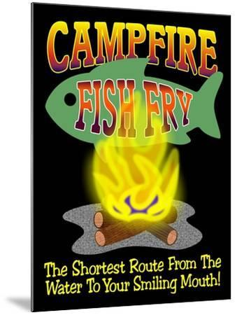 Campfire Fish Fry-Mark Frost-Mounted Giclee Print