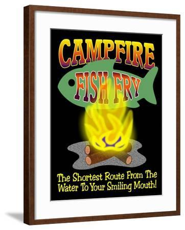 Campfire Fish Fry-Mark Frost-Framed Giclee Print