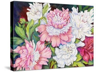 A Peony Cluster-Joanne Porter-Stretched Canvas Print