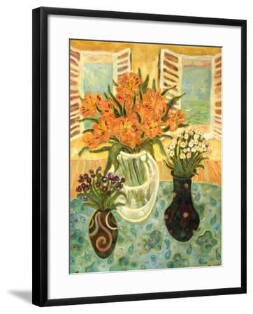 Flowers on a Table-Lorraine Platt-Framed Giclee Print