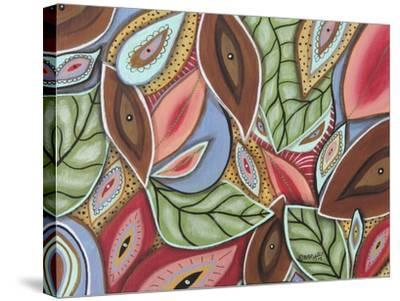 Leaves Medley 1-Karla Gerard-Stretched Canvas Print