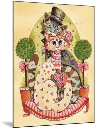 A Purrrrfect Match-Linda Ravenscroft-Mounted Giclee Print