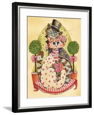 A Purrrrfect Match-Linda Ravenscroft-Framed Giclee Print